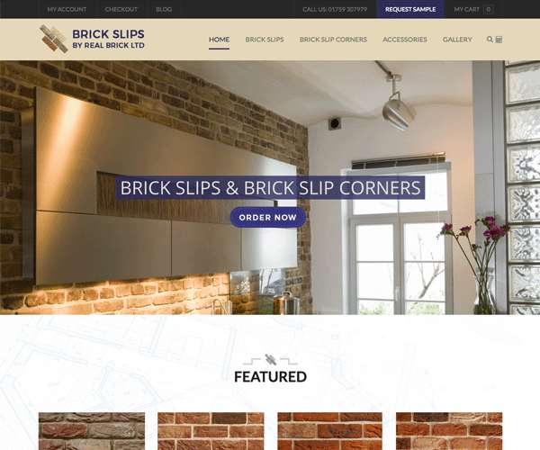 Brickslips required a bespoke online shopping platform to sell their brickslips easily.