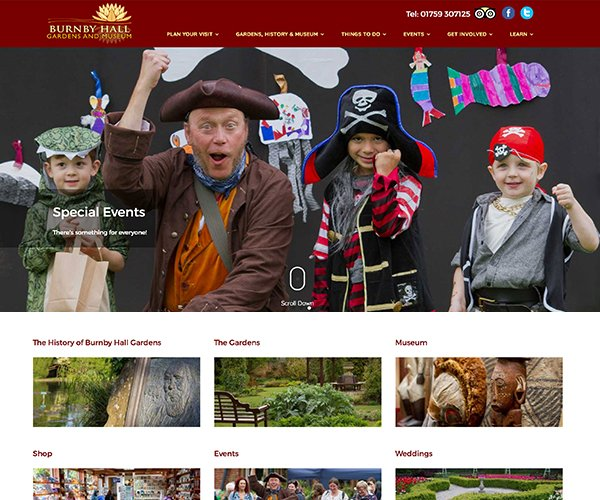Burnby Hall Gardens contacted us to create a new website for their Pocklington based Gardens and Museum.