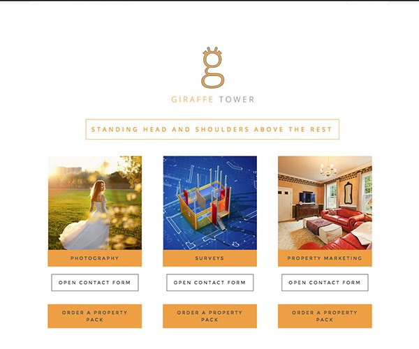 Giraffe Tower are a property marketing company that required a high quality website to promote their business online