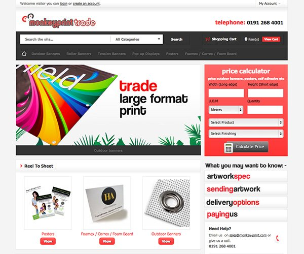 Simply Trade Banners required a simple ecommerce solution to provide trade printed banners.