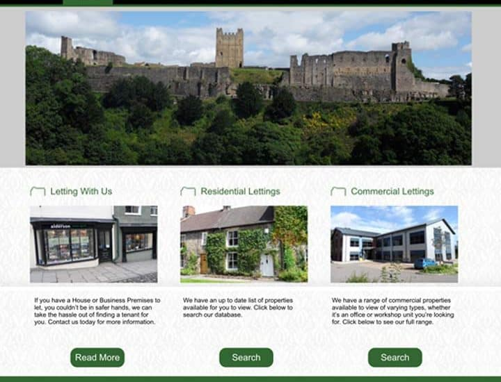 Alderson Lettings Estate Agent Website Design