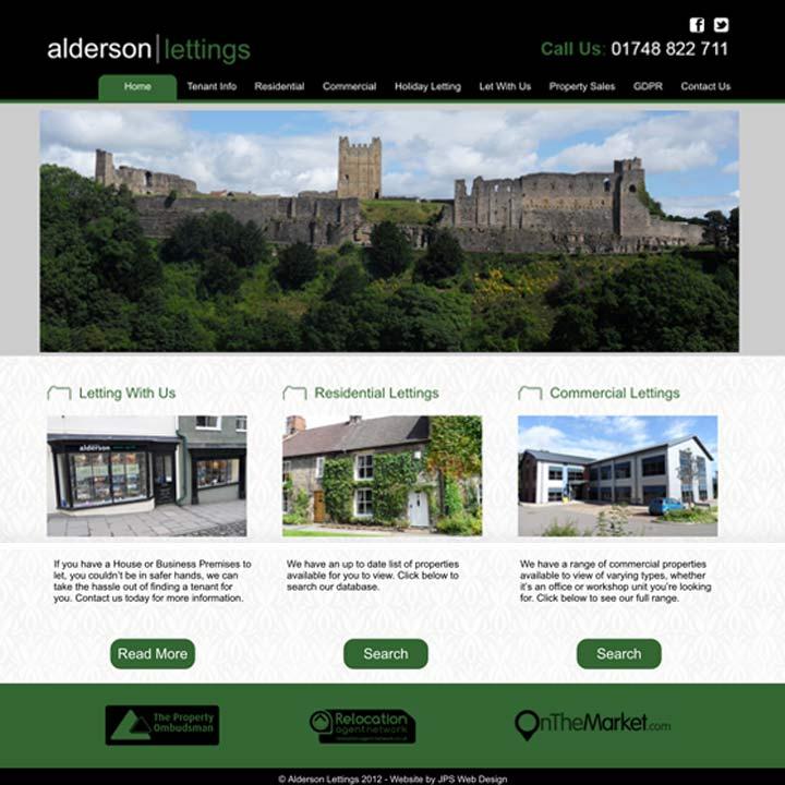 Alderson Lettings Estate Agent Website Design