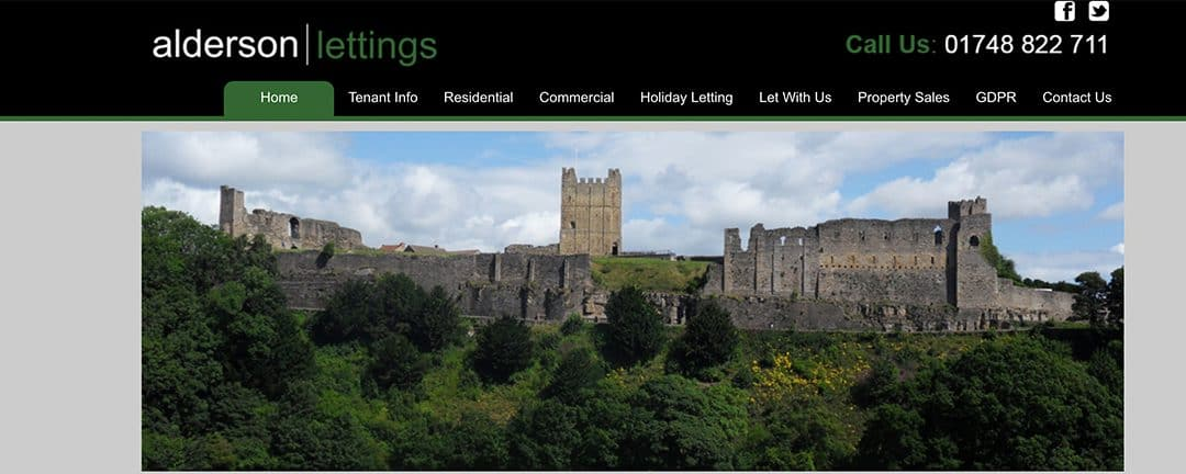 Alderson Lettings Home Page Estate Agent