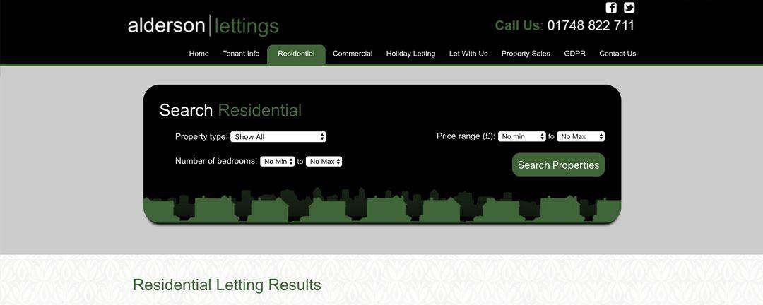 Alderson Lettings Residential Search