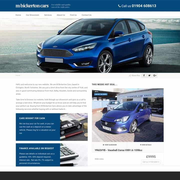 Bickerton Cars Automotive Brochure Website