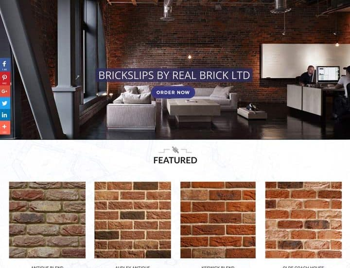 Brick Slips eCommerce Website