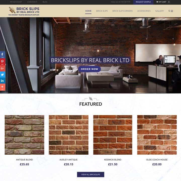 Brick Slips eCommerce Website