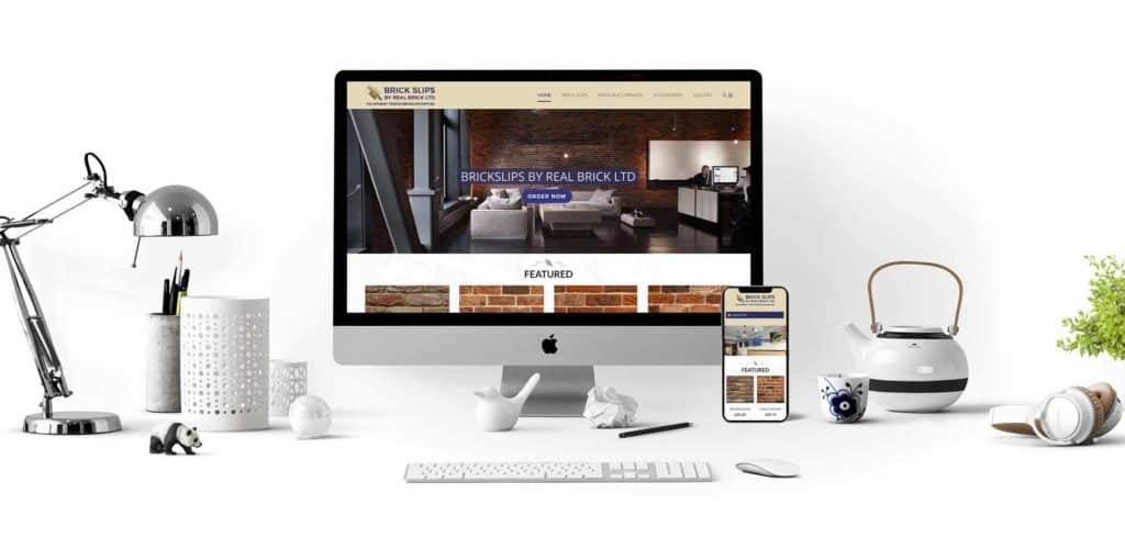 Brick Slips Website Design Desktop