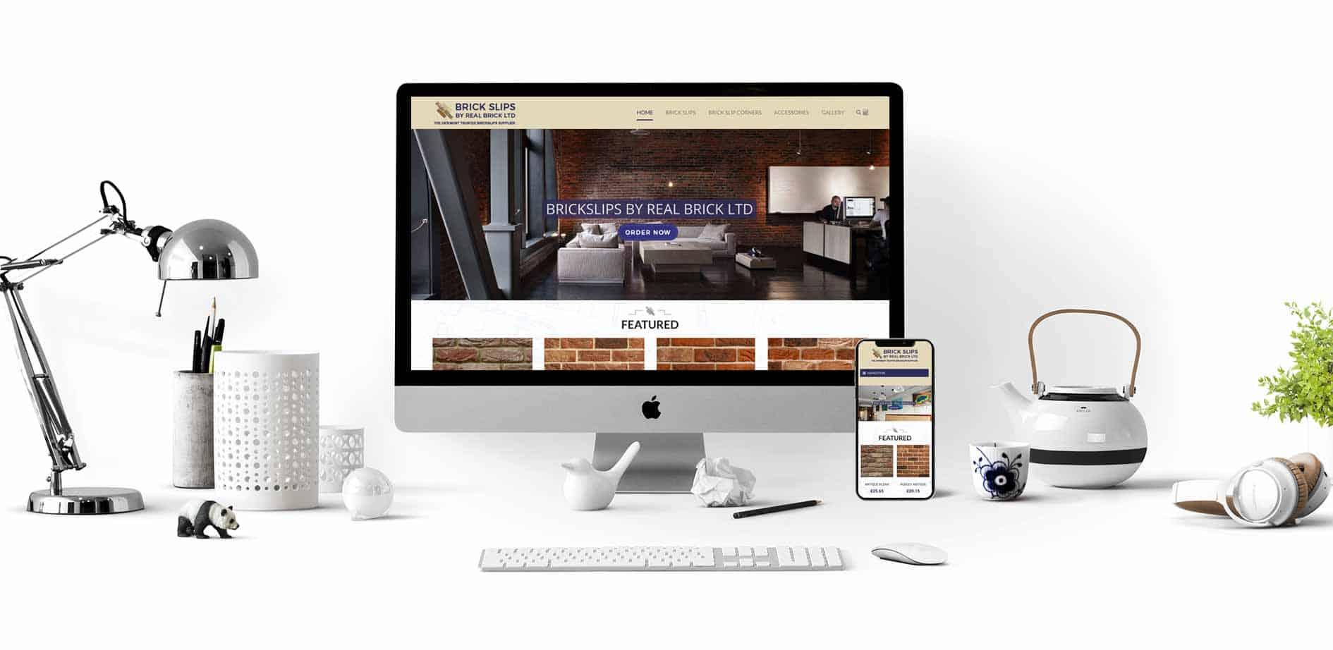 Brick Slips Website Design Desktop