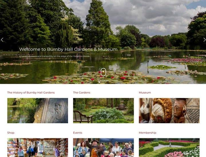 Burnby Hall Gardens Website Design And Development