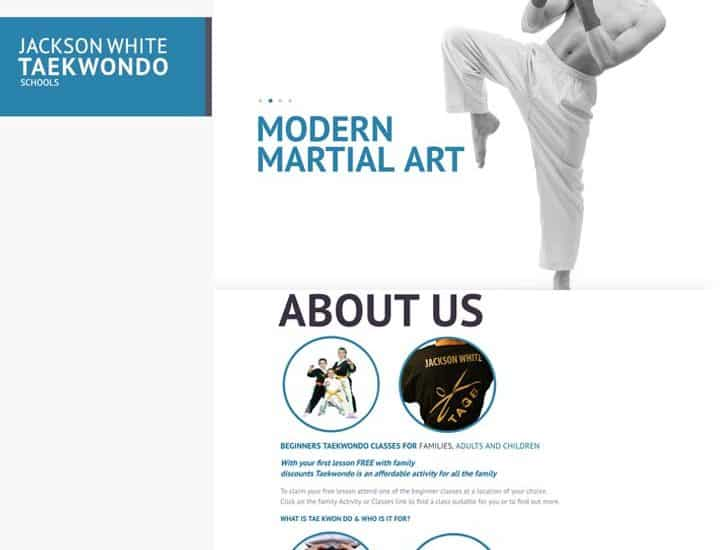Jackson White Training Class Website Design