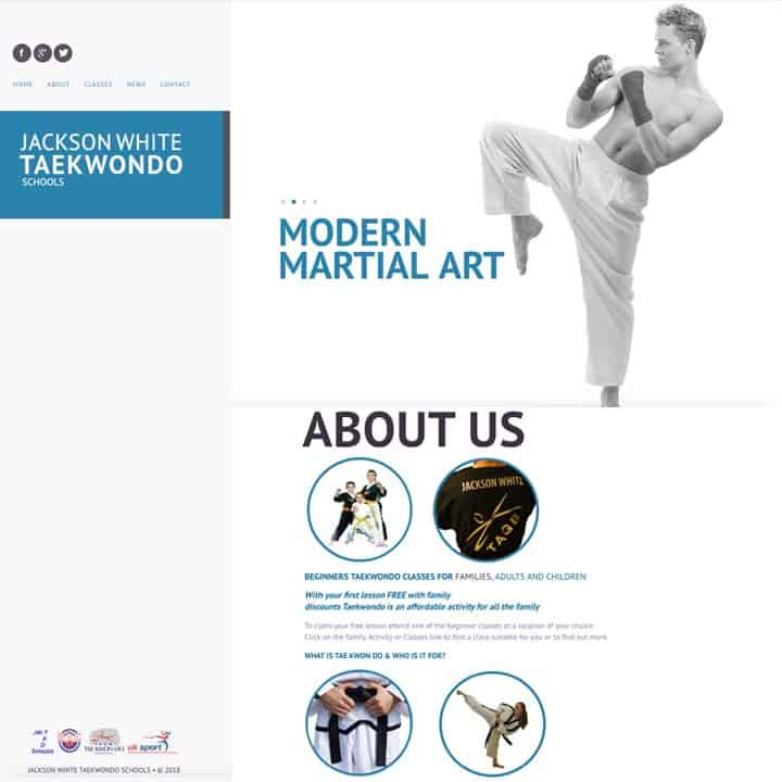 Jackson White Training Class Website Design