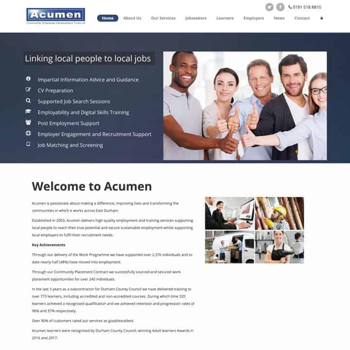 Acumen Trust Learning Portal Website