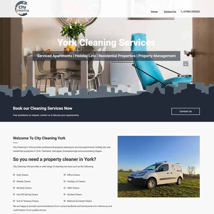 City Cleaning Brochure Website