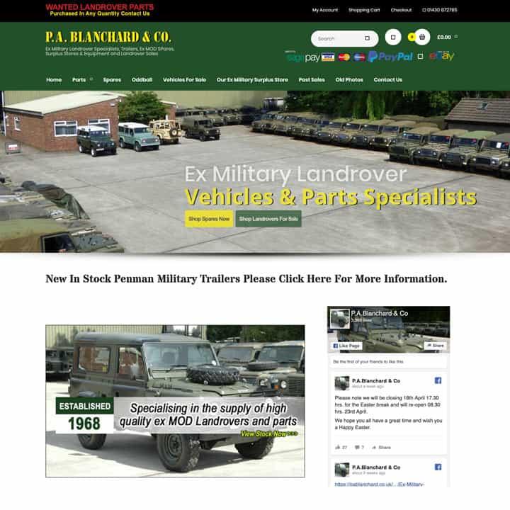 PA Blanchard eCommerce Website