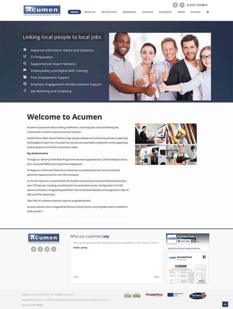 Acumen Trust Whole Website