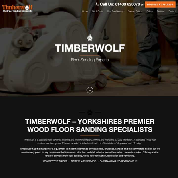 Timberwolf Floors Website