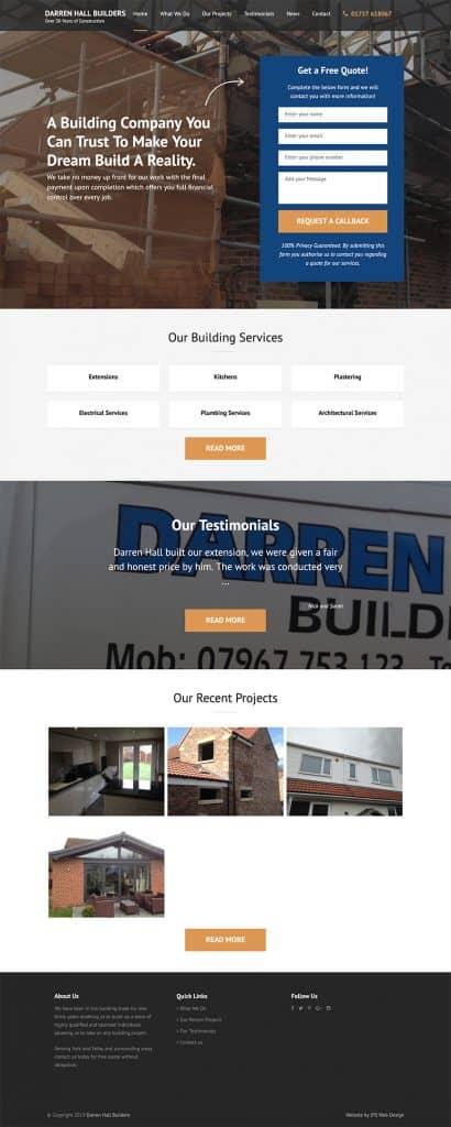 Darren Hall Builders Whole Website