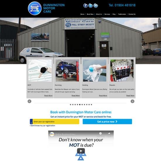 Dunnington Motor Care Website