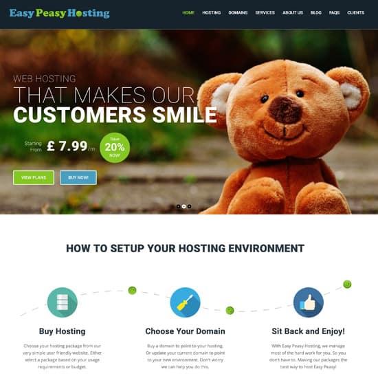 Easy Peasy Hosting Website