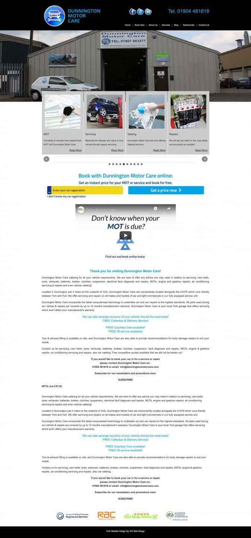 Dunnington Motor Care Whole Website