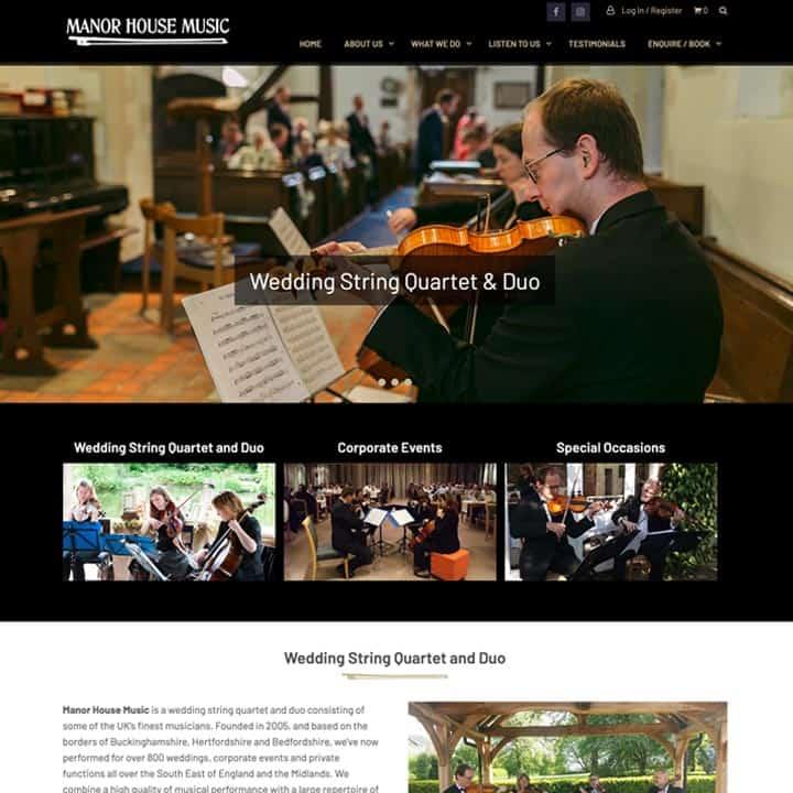 Manor House Music Website